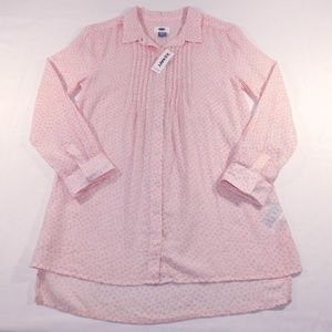 NWT Old Navy Womens 3/4 Sleeve Pleated Top, XL